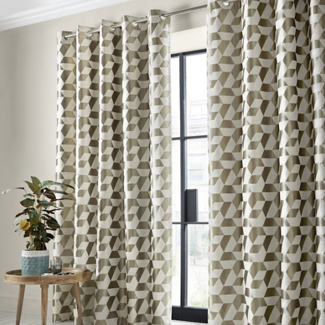 Kinetic Blackout Eyelet Curtains