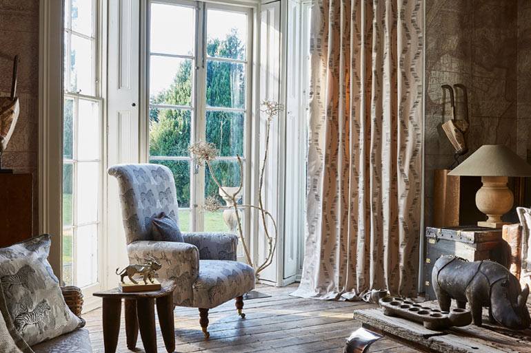 Examples of made-to-measure curtains and roman blinds in by Hilary Jane in East Kent